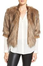 Women's Love Token Faux Fur Jacket
