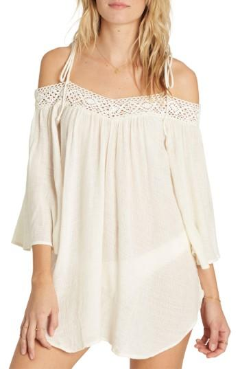 Women's Billabong Breeze On Off The Shoulder Cover Up - White