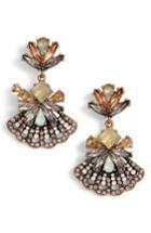Women's Stella + Ruby Crystal Fan Earrings