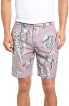Men's Bonobos Parker Print Linen Blend Shorts - Purple