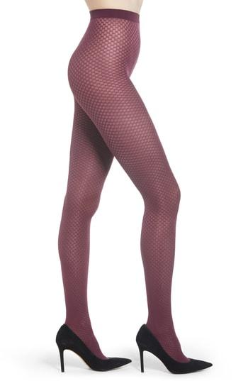 Women's Wolford Tess Check Tights - Purple