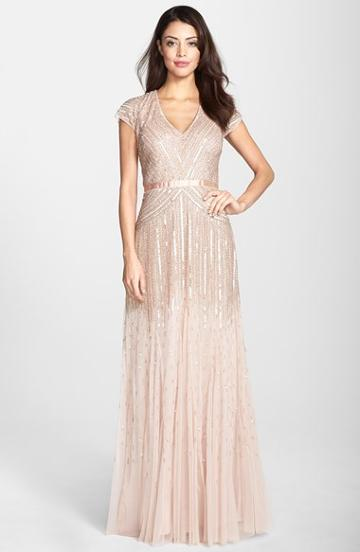 Women's Adrianna Papell Embellished Mesh Gown,