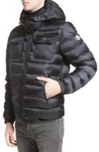 Men's Moncler Valence Hooded Down Coat - Blue