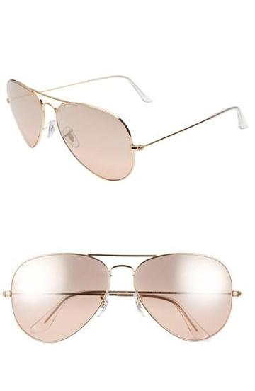 Ray-ban 'large Original Aviator' 62mm Sunglasses Pink