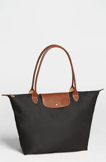 Longchamp 'large Le Pliage' Tote - Black