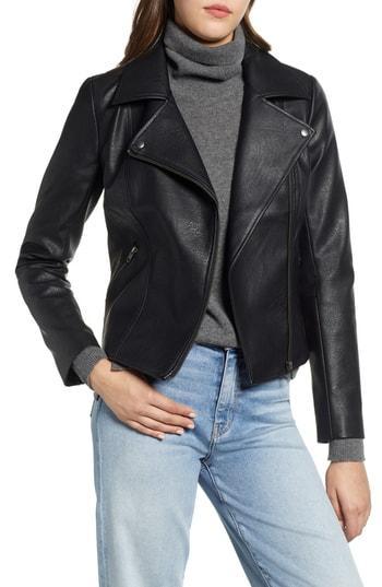 Women's Halogen Moto Jacket - Black