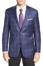 Men's Hart Schaffner Marx Classic Fit Plaid Wool Sport Coat