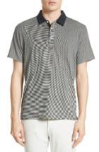 Men's Rag & Bone Stripe Polo - Grey