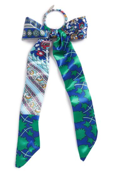 Tasha Colorful Tie Bow Ponytail Holder