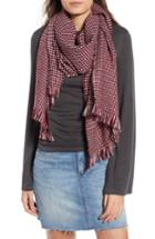 Women's Leith Waffle Grid Oblong Scarf, Size - Red