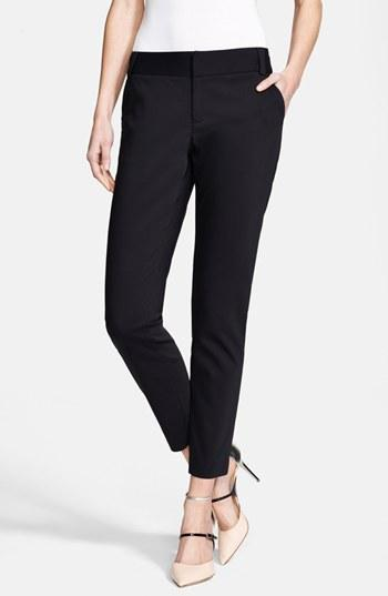 Alice + Olivia 'stacey' Slim Pants Womens Black