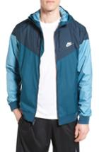 Men's Nike 'windrunner' Colorblock Jacket - Blue/green