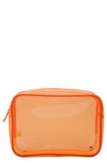 Stephanie Johnson Miami Jumbo Zip Cosmetics Case, Size - Miami Orange