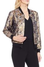 Women's Vince Camuto Gold Foil Bomber Jacket