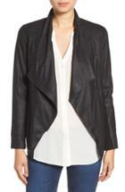 Women's Bb Dakota 'kenrick' Drape Neck Leather Jacket