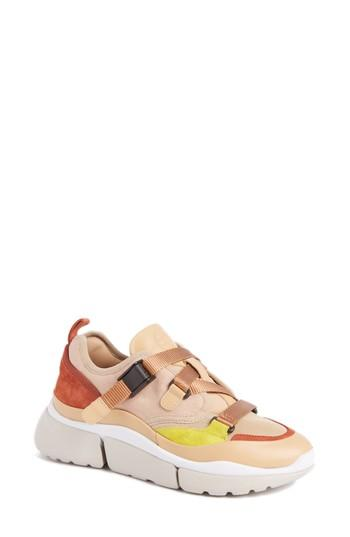 Women's Chloe Sonnie Low Top Sneaker Us / 35eu - Pink