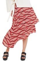 Women's Topshop Matchstick Print Midi Skirt
