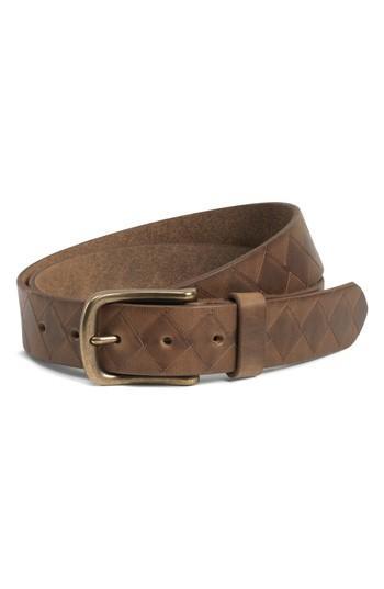 Men's Trask Douglas Leather Belt - Brown