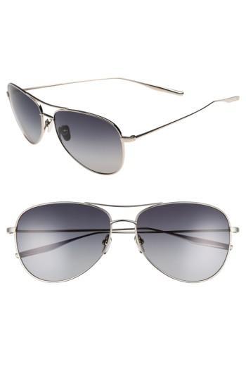 Men's Salt Mckean 59mm Aviator Sunglasses - Traditional Silver