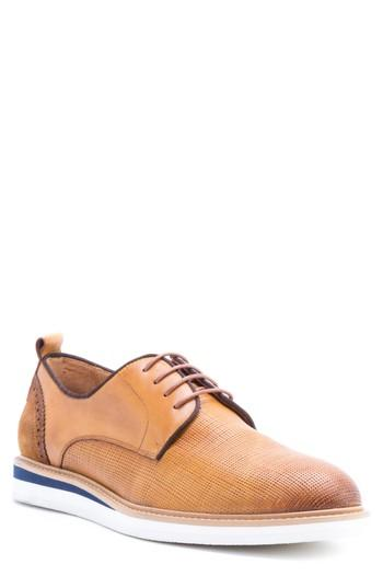 Men's Zanzara Stem Textured Plain Toe Derby M - Brown