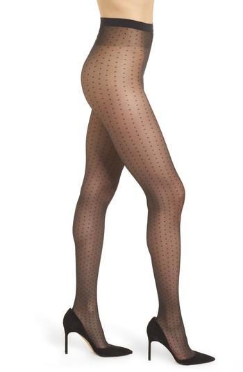 Women's Wolford Sarah Jessica Dot Tights - Black