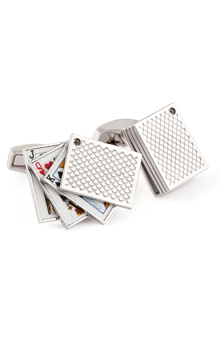 Men's Tateossian Playing Cards Cuff Links