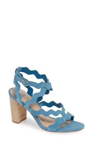 Women's Paige Sage Scalloped Sandal M - Blue