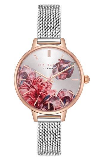 Women's Ted Baker London Kate Mesh Strap Watch, 32mm