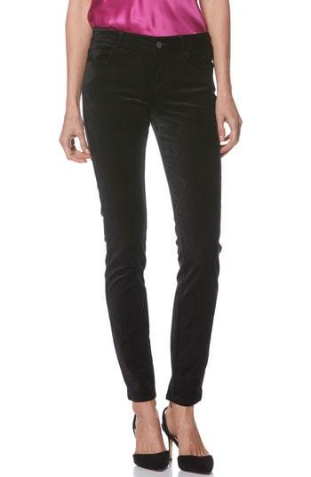 Women's Paige Verdugo Ultra Skinny Velvet Pants - Black