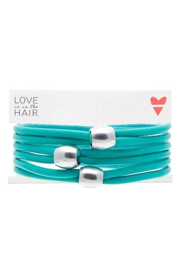 Love Is In The Hair Beach 3-pack Hair Ties, Size - Blue