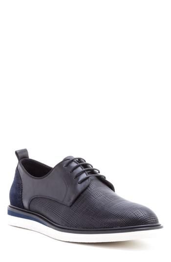 Men's Zanzara Stem Textured Plain Toe Derby M - Black