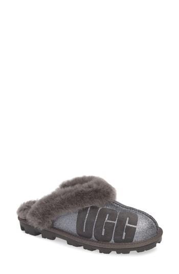 Women's Ugg Sparkle Genuine Shearling Slipper M - Grey