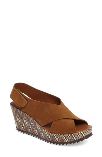 Women's Pedro Garcia 'federica' Wedge Sandal Us / 35eu - Brown