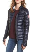 Women's Canada Goose 'hybridge Lite' Slim Fit Mixed Media Down Jacket - Blue