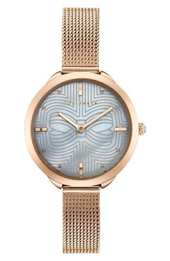 Women's Ted Baker London Elena Mesh Strap Watch, 30mm