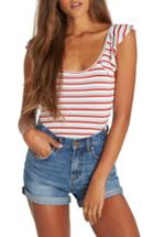 Women's Billabong Sunrise Road Stripe Top - Red