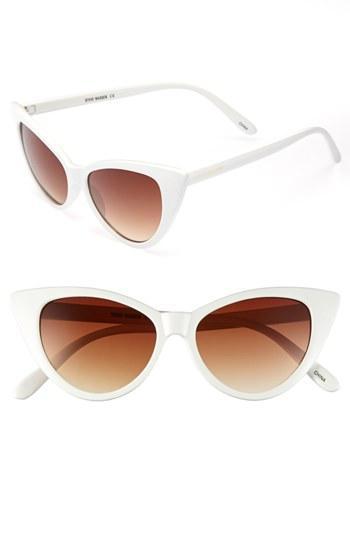 Steve Madden 50mm Cat's Eye Sunglasses White