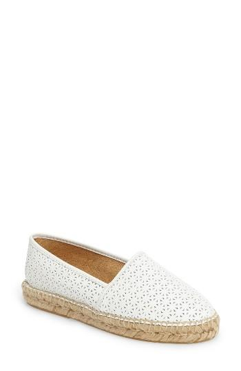 Women's Patricia Green Anna Perforated Espadrille M - White