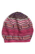 Women's Missoni Stripe Slouchy Beanie - Purple