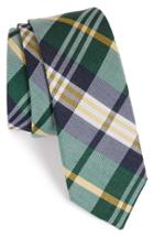 Men's The Tie Bar Plaid Silk & Linen Tie
