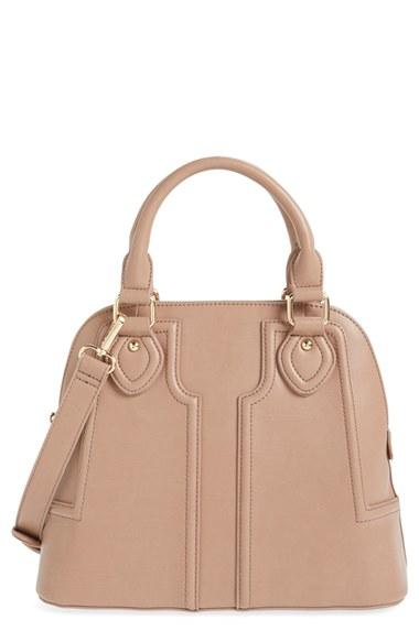 Sole Society Dome Satchel - Beige