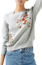 Women's Topshop Poppy Embroidered Sweater