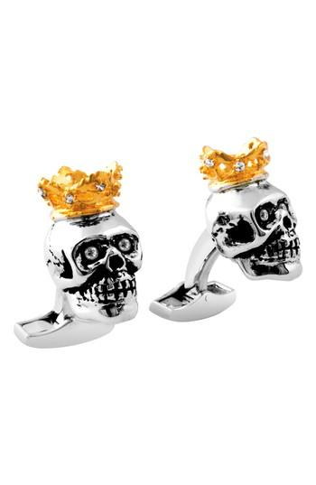 Men's Tateossian King Skull Cuff Links