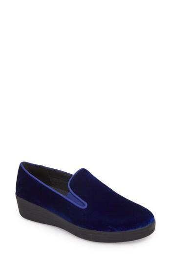 Women's Fitflop Superskate Slip-on Sneaker .5 M - Blue