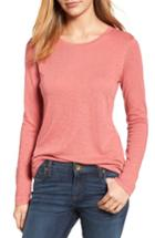 Women's Caslon Long Sleeve Crewneck Tee - Red