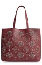Chelsea28 Starburst Faux Leather Tote & Zip Pouch - Burgundy