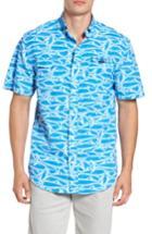 Men's Vineyard Vines Harbor Brushed Marlin Fishing Shirt - Blue
