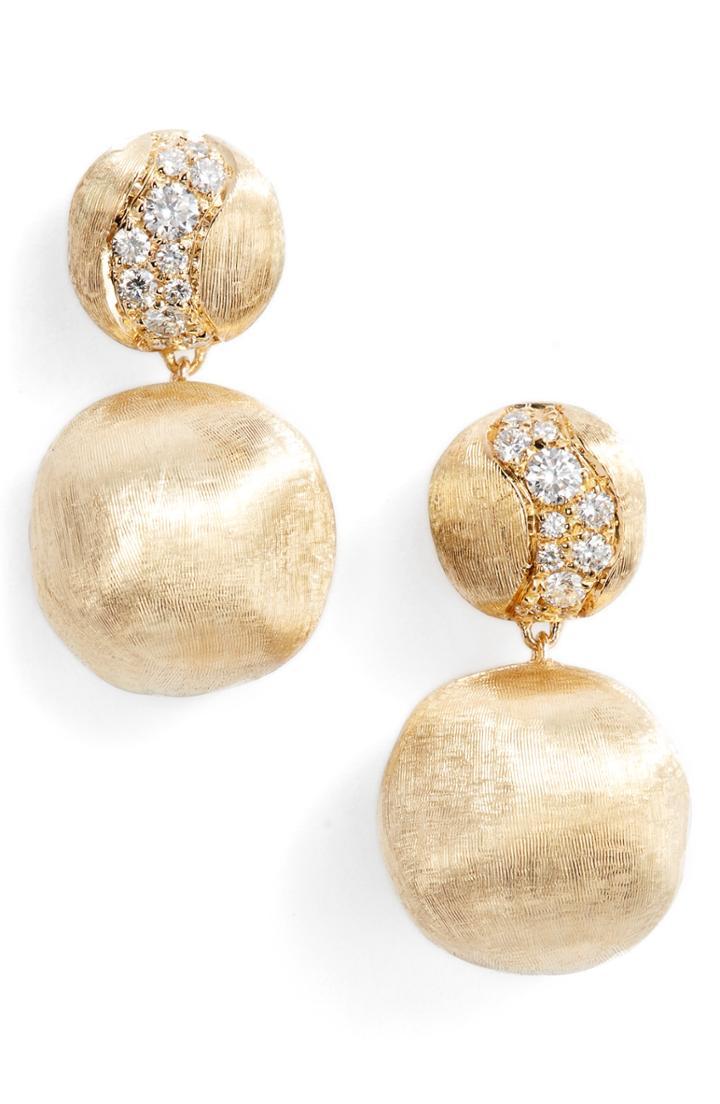 Women's Marco Bicego Africa Constellation Diamond & 18k Gold Earrings