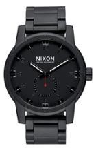 Men's Nixon 'patriot' Round Bracelet Watch, 45mm