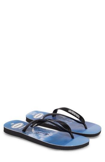 Men's Havaianas Top Photo Print Flip Flop /8 M - Blue